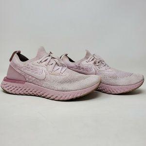 Nike Epic React Flyknit Pearl Pink Running Sz 10.5